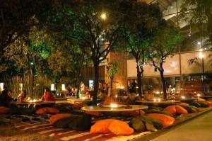 Spiritual Café. Detalle patio de los naranjos en el Museu Marítim de BCN. Foto: Cristobal Castro